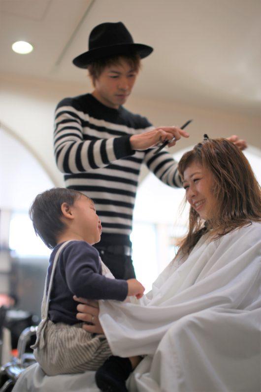 みらいママ mamato KENZO hair 子連れOK ヘアサロン 美容室 ママ抱っこ